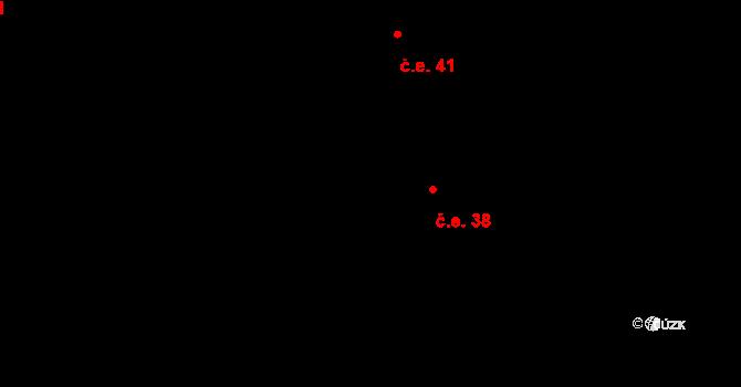 Lhota u Vsetína 38 na parcele st. 482 v KÚ Lhota u Vsetína, Katastrální mapa