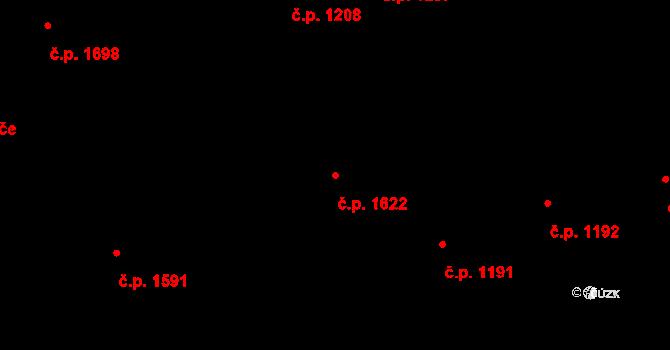 Horní Litvínov 1622, Litvínov na parcele st. 1986/2 v KÚ Horní Litvínov, Katastrální mapa