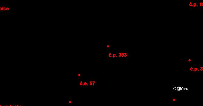 Kokory 383 na parcele st. 468 v KÚ Kokory, Katastrální mapa
