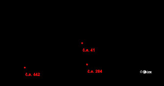 Žabovřesky 41, Brno na parcele st. 5634/8 v KÚ Žabovřesky, Katastrální mapa