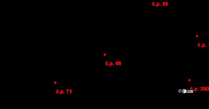 Olšová Vrata 66, Karlovy Vary na parcele st. 204 v KÚ Olšová Vrata, Katastrální mapa
