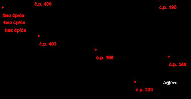 Heřmanice 168, Ostrava na parcele st. 215 v KÚ Heřmanice, Katastrální mapa