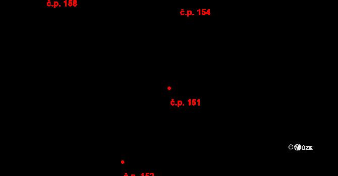 Nedvězí 151, Olomouc na parcele st. 215 v KÚ Nedvězí u Olomouce, Katastrální mapa
