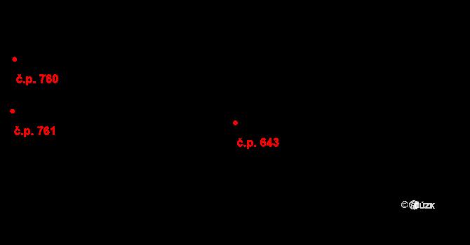 Muglinov 643, Ostrava na parcele st. 988 v KÚ Muglinov, Katastrální mapa