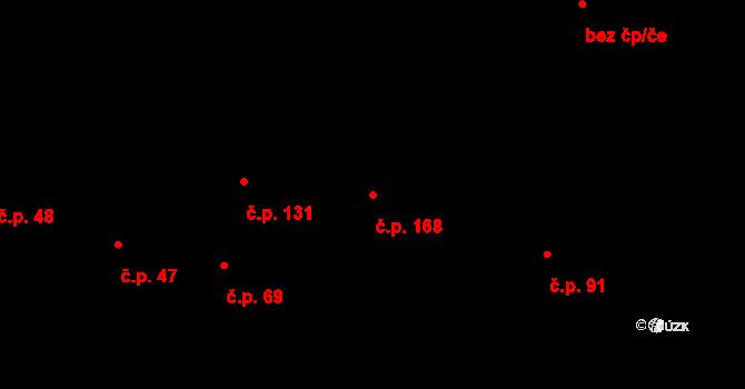 Sehradice 168 na parcele st. 134/2 v KÚ Sehradice, Katastrální mapa