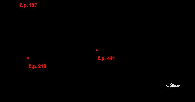 Louky 441, Zlín na parcele st. 753 v KÚ Louky nad Dřevnicí, Katastrální mapa