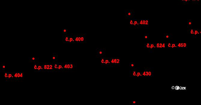 Lysá nad Labem 462 na parcele st. 599 v KÚ Lysá nad Labem, Katastrální mapa