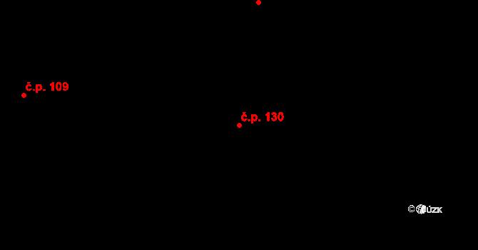 Hostinné 130 na parcele st. 191 v KÚ Hostinné, Katastrální mapa