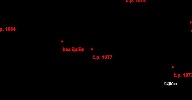 Nivnice 1077 na parcele st. 1981/74 v KÚ Nivnice, Katastrální mapa