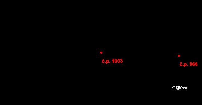 Bojkovice 1003 na parcele st. 2320 v KÚ Bojkovice, Katastrální mapa