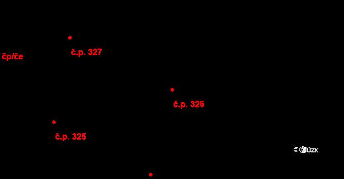 Staré Hodějovice 326 na parcele st. 493/12 v KÚ Staré Hodějovice, Katastrální mapa