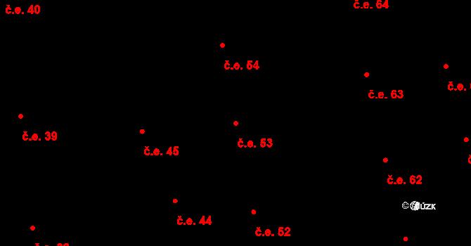 Prštné 53, Zlín na parcele st. 850 v KÚ Prštné, Katastrální mapa
