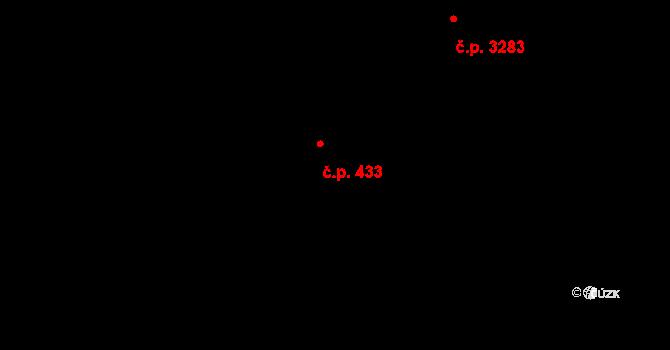 Kročehlavy 433, Kladno na parcele st. 3796/1 v KÚ Kročehlavy, Katastrální mapa