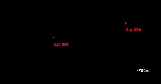 Nové Město 859, Praha na parcele st. 539 v KÚ Nové Město, Katastrální mapa