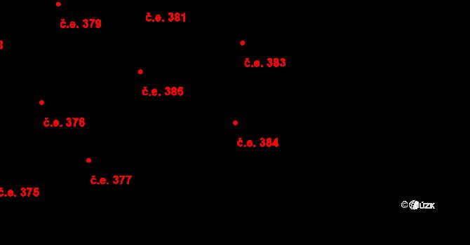 Lety 384 na parcele st. 1588 v KÚ Lety u Dobřichovic, Katastrální mapa