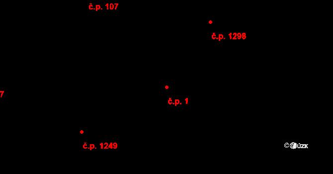Nové Město 1, Rokycany na parcele st. 196/1 v KÚ Rokycany, Katastrální mapa