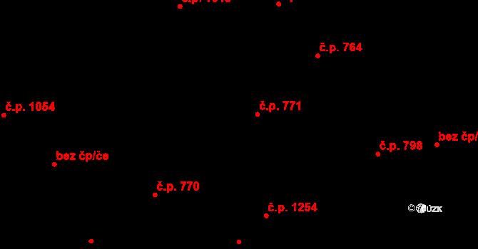 Aš 771 na parcele st. 984 v KÚ Aš, Katastrální mapa