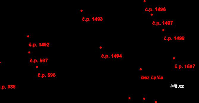 Záběhlice 1494, Praha na parcele st. 3251 v KÚ Záběhlice, Katastrální mapa