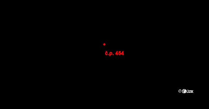 Zličín 454, Praha na parcele st. 668/174 v KÚ Zličín, Katastrální mapa