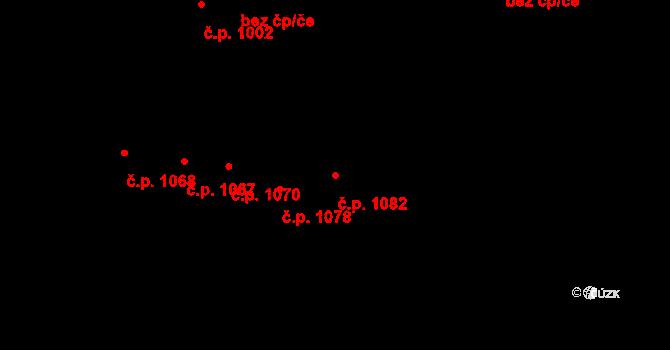 Újezd u Brna 1082 na parcele st. 1660/4 v KÚ Újezd u Brna, Katastrální mapa
