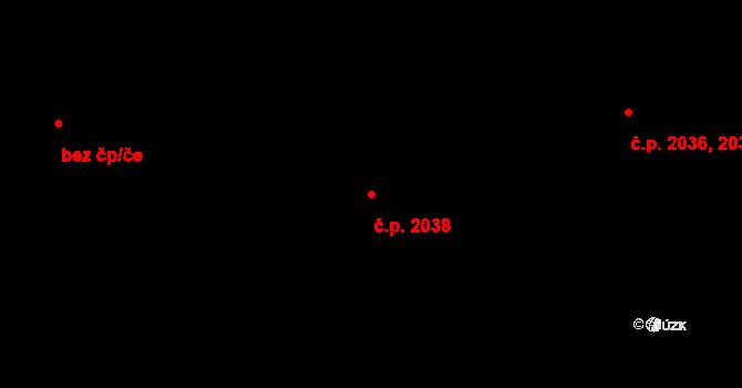 Kročehlavy 2038, Kladno na parcele st. 3526 v KÚ Kročehlavy, Katastrální mapa