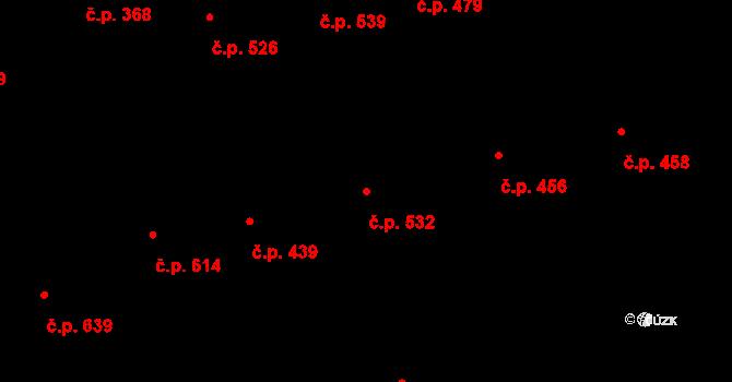 Žižkov 532, Praha na parcele st. 115/1 v KÚ Žižkov, Katastrální mapa