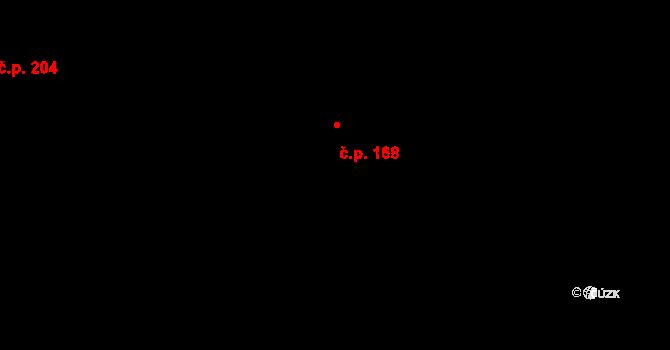 Bílý Potok 168 na parcele st. 141 v KÚ Bílý Potok pod Smrkem, Katastrální mapa