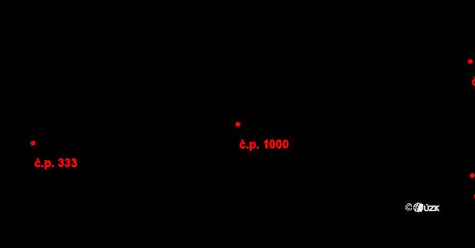 Místek 1000, Frýdek-Místek na parcele st. 1304/1 v KÚ Místek, Katastrální mapa