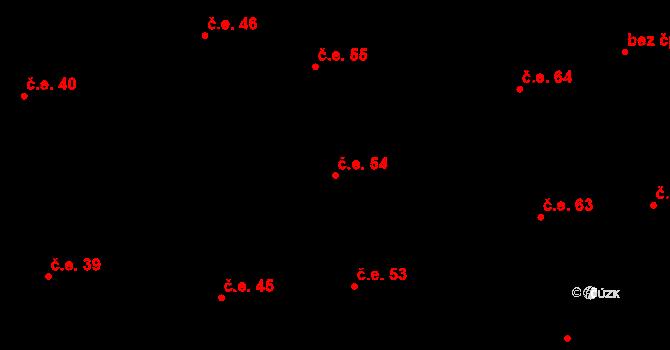 Prštné 54, Zlín na parcele st. 849 v KÚ Prštné, Katastrální mapa