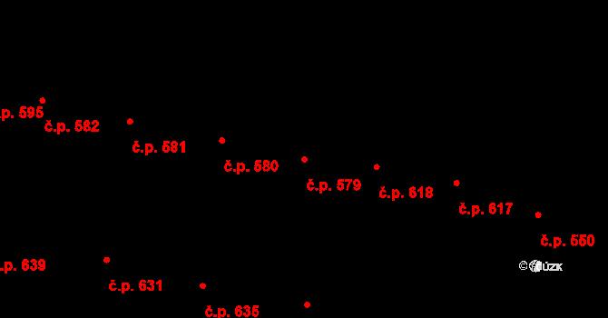 Velké Pavlovice 579 na parcele st. 1135 v KÚ Velké Pavlovice, Katastrální mapa