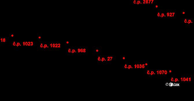 Žižkov 27, Praha na parcele st. 286 v KÚ Žižkov, Katastrální mapa