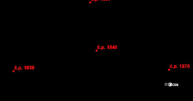 Bílé Předměstí 1840, Pardubice na parcele st. 10593 v KÚ Pardubice, Katastrální mapa