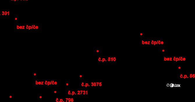 Zlín 810 na parcele st. 1039 v KÚ Zlín, Katastrální mapa