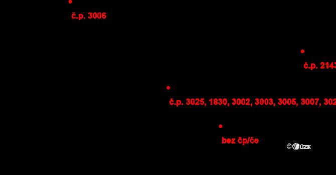 Záběhlice 1830,3002,3003,3005,, Praha na parcele st. 2524/5 v KÚ Záběhlice, Katastrální mapa