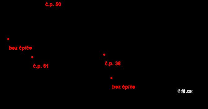 Lhota 38, Dolní Břežany na parcele st. 67 v KÚ Lhota u Dolních Břežan, Katastrální mapa