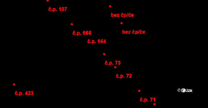 Studánka 73, Pardubice na parcele st. 126/1 v KÚ Studánka, Katastrální mapa