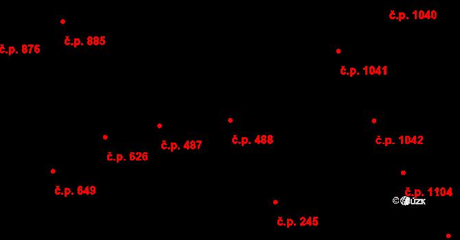 Vinohrady 488, Praha na parcele st. 777 v KÚ Vinohrady, Katastrální mapa