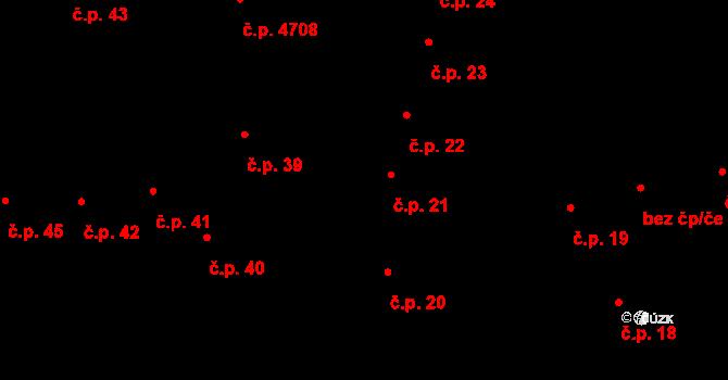 Jihlava 21 na parcele st. 45 v KÚ Jihlava, Katastrální mapa