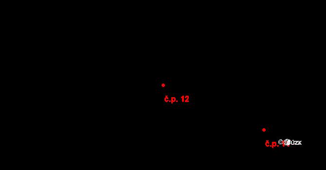 Staré Hory 12, Jihlava na parcele st. 71 v KÚ Staré Hory, Katastrální mapa