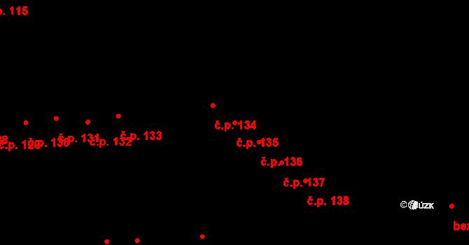 Doubravice 135, Pardubice na parcele st. 1294 v KÚ Semtín, Katastrální mapa