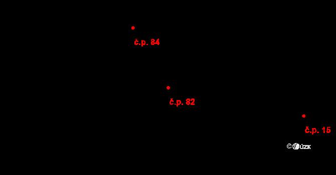 Malá Losenice 82 na parcele st. 82 v KÚ Malá Losenice, Katastrální mapa