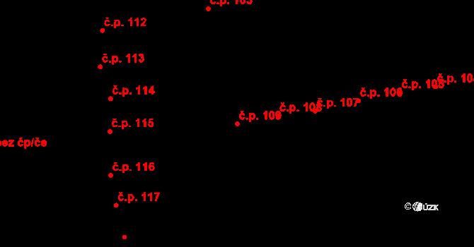 Valašské Meziříčí 109 na parcele st. 62/1 v KÚ Valašské Meziříčí-město, Katastrální mapa