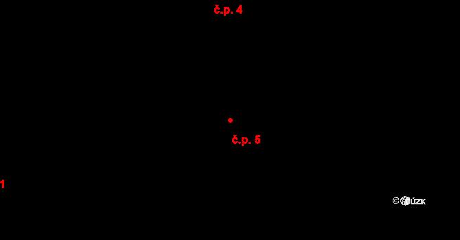 Krásné Loučky 5, Krnov na parcele st. 11 v KÚ Krásné Loučky, Katastrální mapa