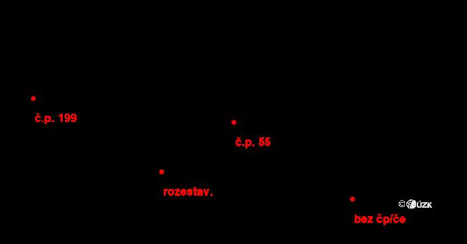 Plavsko 55 na parcele st. 61 v KÚ Plavsko, Katastrální mapa