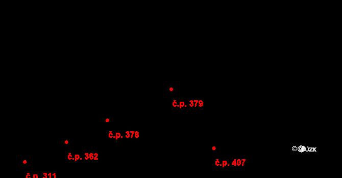 Hradec Králové 379 na parcele st. 450 v KÚ Hradec Králové, Katastrální mapa