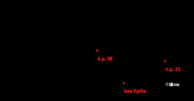 Záborná Lhota 38, Chotilsko na parcele st. 38 v KÚ Záborná Lhota, Katastrální mapa