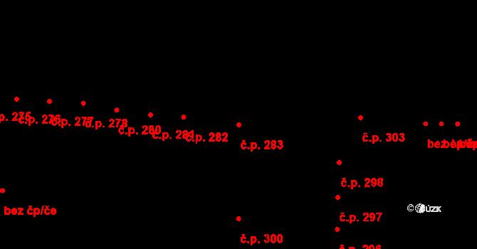 Krásné Březno 283, Ústí nad Labem na parcele st. 421 v KÚ Krásné Březno, Katastrální mapa