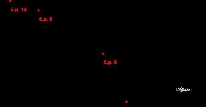 Hrazená Lhota 6, Vlašim na parcele st. 7 v KÚ Hrazená Lhota, Katastrální mapa