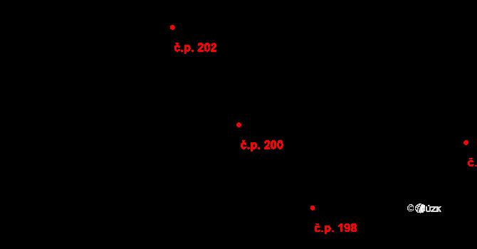 Veveří 200, Brno na parcele st. 438 v KÚ Veveří, Katastrální mapa