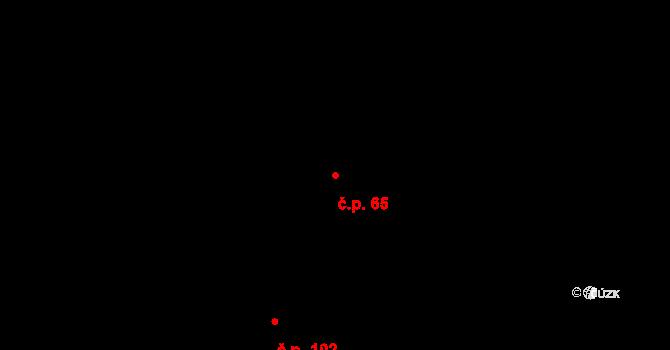 Liberec XXII-Horní Suchá 65, Liberec na parcele st. 354 v KÚ Horní Suchá u Liberce, Katastrální mapa